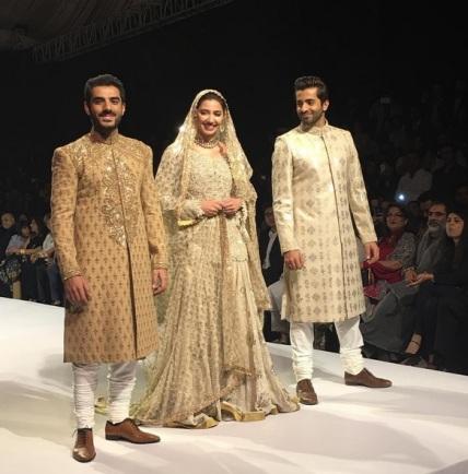 Mahira Khan, Shehryar Munawar and Adeel Hussain on ramp