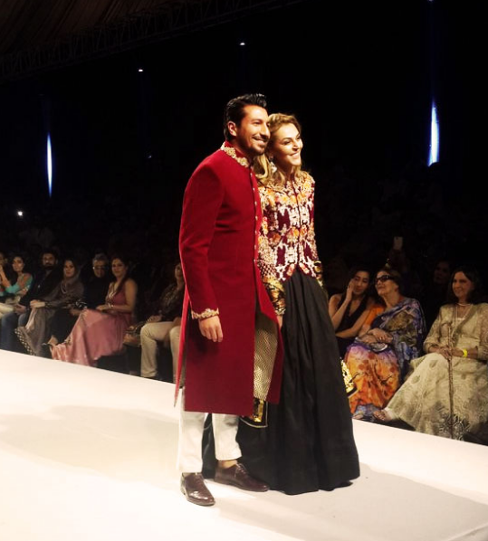 Sana Bucha and Waqar Ali Khan on ramp