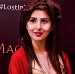 Model Areeba Habib on red carpet
