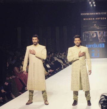 Faysal Quraishi and Aijaz Aslam on ramp