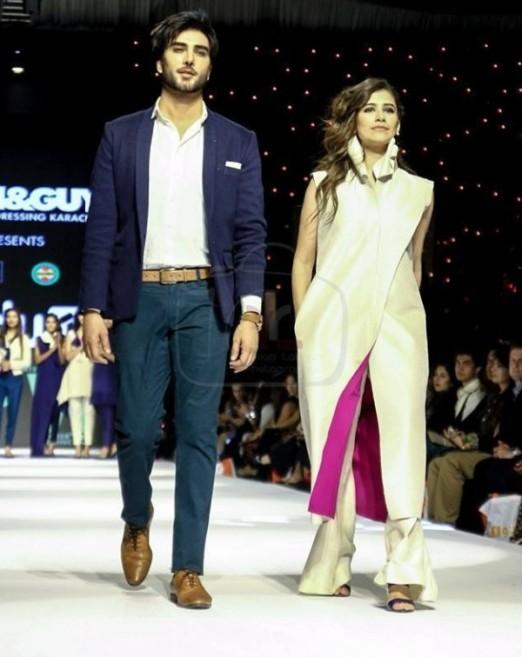 Imran Abbas and Syra Shahroz on ramp