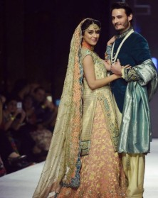 Maya Ali and Osama Khalid Butt on ramp