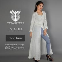 Exquisitely designed classical white long shirt dress