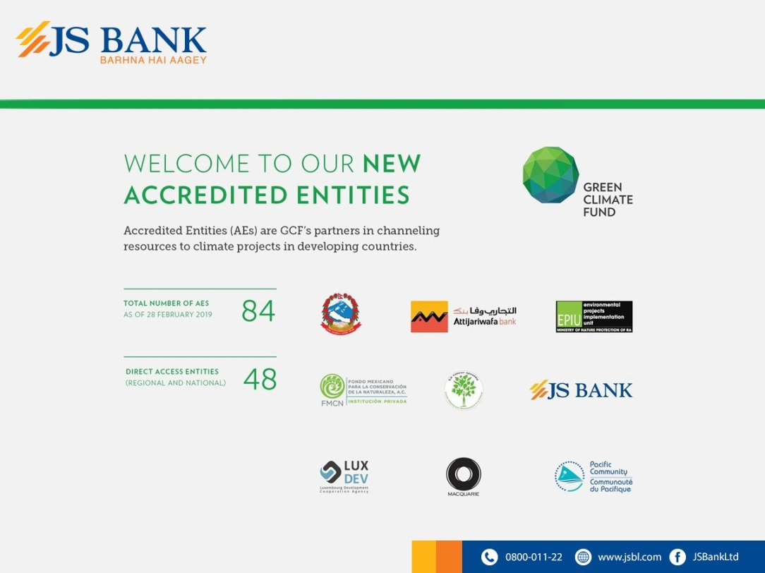 JS Bank and Green Climate Fund